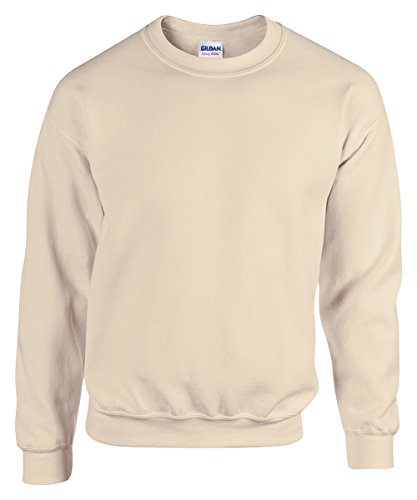- Gildan Men's Heavy Blend Crewneck Waistband Sweatshirt, Sand, XXX-Large