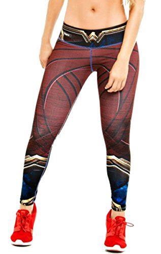 [Wonder Woman Leggings Superhero Yoga Pants Women's Compression Tights] (Tights Costumes Accessory)