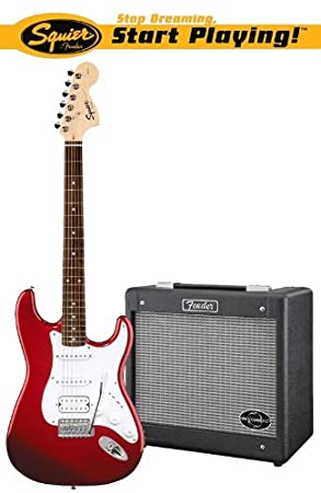 Squier Affinity Stratocaster Hssg Dec Junior Pack Red Electric