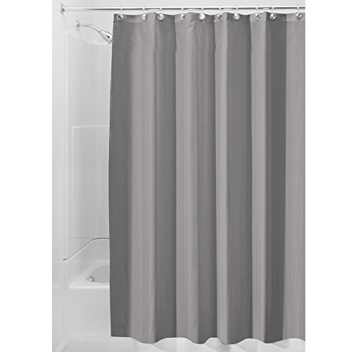 InterDesign Water Repellent Mildew Resistant Fabric Curtain
