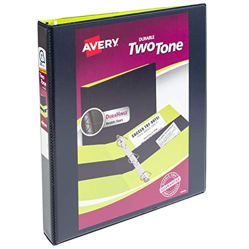 - Avery Two-Tone Durable Binder, 3 Ring Binder, 1