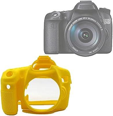 Yunchenghe - Funda de silicona para cámara Canon EOS 70D ...