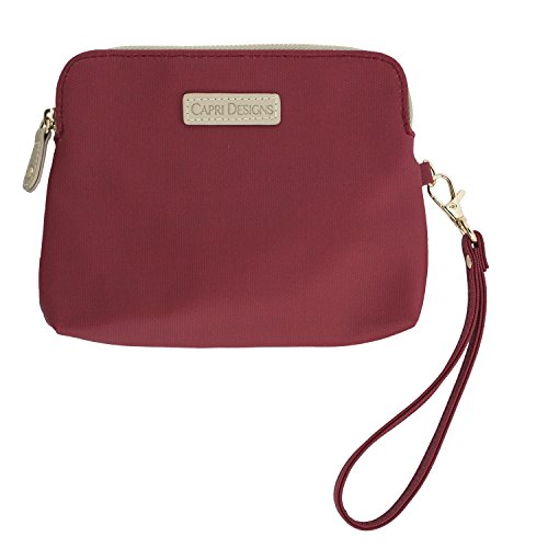 Capri Designs Stadium Collection Crimson Catchall Case With Wristlet by Capri Designs