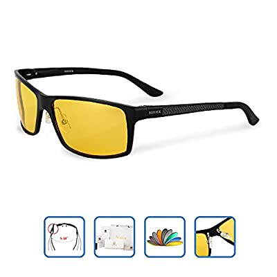 HD Night Vision Glasses for Driving for men women Polarized Anti-glare night driving glasses (More than 3 Colors )