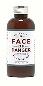 Organic After-Shave Lotion, Alcohol-Free, Soothes Razor Burns and Bumps, Closes Pores and Moisturizes. All Natural by Face of Danger