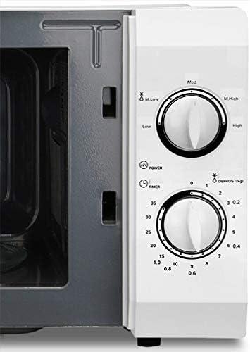21L multifonction four micro-ondes melaminé temps mécanique Moulage Electromenagers (Color : White, Size : UK plug)