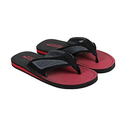 Skechers Go Casual Mens Nero Rosso Infradito Sintetico Slip On Sandali Scarpe 8
