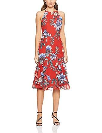 Cooper St Women's Floral Courtyard Midi Dress, Print Dark, 10