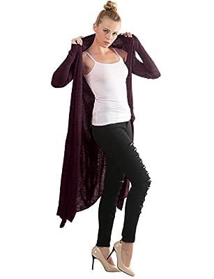 Open Cardigan Sweaters Womens Plus Size Knit Long Cardigan