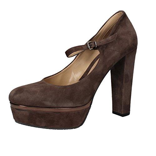 ALBANO Zapatos de Salón Mujer Marrón 40 EU Marrón Gamuza AE956