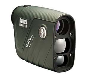 Bushnell 4x20 Chuck Adams BowHunter Laser Range Finder, Green, Clam Pack 202206C