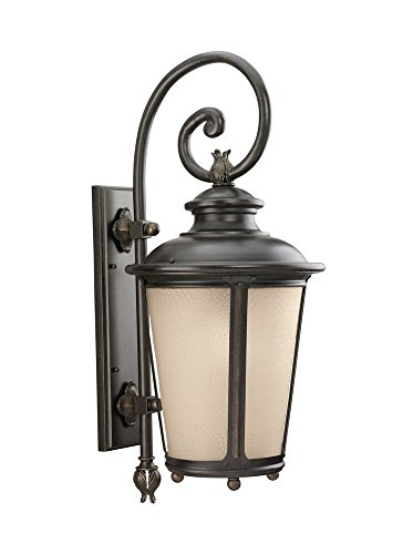 Sea Gull Lighting 88243EN3-780 One Light Outdoor Wall Lantern, Burled Iron