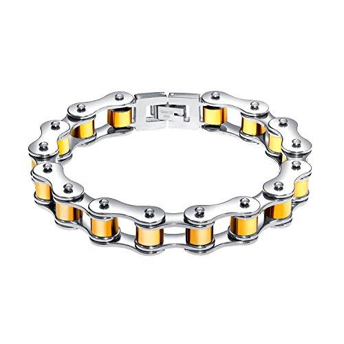 20a77da4bc5f Nuevo Fate Love Jewellery - Pulsera de cadena de eslabones de acero  inoxidable para hombre