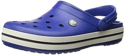 crocs Unisex Crocband Clog, Cerulean Blue/Oyster, 6 US Men / 8 US Women - Blue Croc