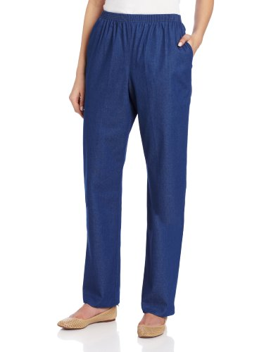Alfred Dunner Women's Short Length Pant,Denim,18