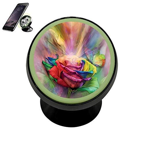 SJ Bracket Healing Rose Safeness & Comfort Magnetic Phone Car Mount Holder Universal 360 Rotation Stand Metal Mobile Phone