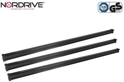 Barras de techo para Mercedes Vito desde 01//2015 Nordrive Kargo 3 barras de acero negro W//V639