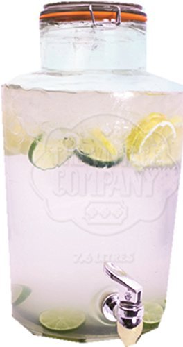 Ardisle 7.6l Dispensador de bebida grifo de cóctel de agua zumo Punch Party Tazas (