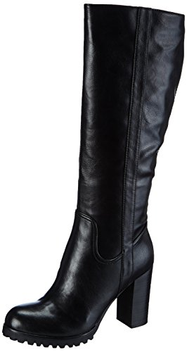 La Strada Schwarze lange Leder-Look Damen Langschaft Stiefel Schwarz (1901 - pu black)