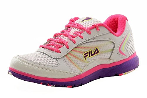 Fila Women's Memory Panache-w, White/Knockout Pink/Electric Purple, 7 M US For Sale