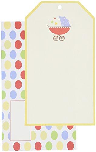 Mara-Mi Buggy Baby Tag Imprintable Invitation, 10-Count -