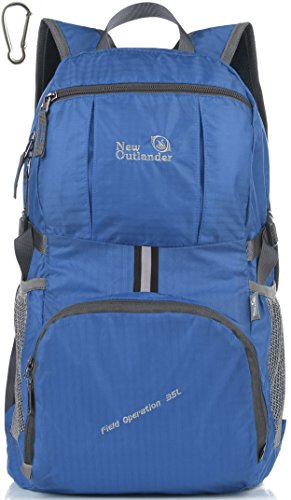 Outlander Packable Handy Lightweight Travel Backpack Daypack,New Dark Blue
