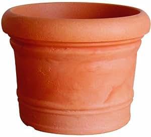 ProHome 34048 Turin - Maceta de plástico (diámetro: 30 cm, altura: 23 cm), color terracota
