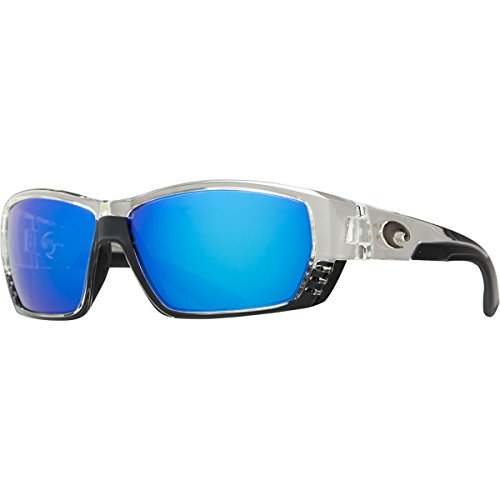 Costa Del Mar Tuna Alley Sunglasses, Crystal, Blue Mirror 400 Glass - Where Made Costa Are Sunglasses