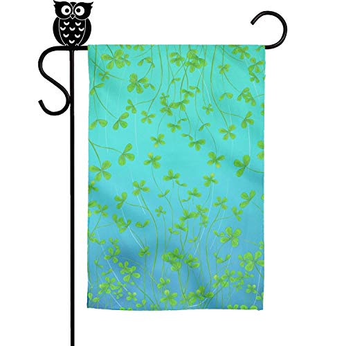 Kaiui Aidof Decorative Garden Flags Four Leaf Clover Party H