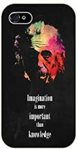 For SamSung Galaxy S5 Case Cover Imagination is more important than knowledge - black plastic case / Einstein, Inspirational and motivational life quotes / AUTHENTIC