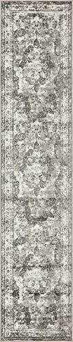 Unique Loom 3141302 Sofia Collection Area Rug, 2' x 10' Runner, Gray -