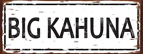 mdrqzdfh Signs for A Pool House Big Kahuna Metal Sign Relaxation Family Room Bar Den Pub Pool House Decorkahuna Pool ()