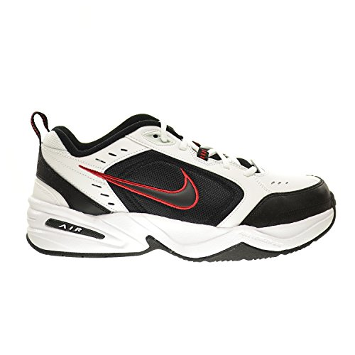 NIKE Air Monarch IV (4E) Extra-Wide Men's Shoes White/Black-Varsity Red 416355-101 (9 4E US)