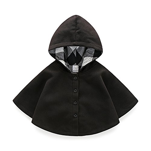 Boarnseorl Newborn Baby Boy Baby Girl Unisex Clothes Cotton Hooded Red Cloak 3-6 Months ()