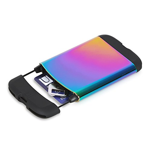 Umbra Metallic Bungee Credit Card Case, Rainbow
