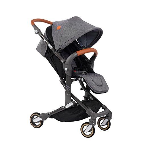 New Style—Babysing high Landscape Stroller Baby Stroller Four Seasons Universal Folding cart Baby Stroller I-Go (Gentleman Gray Color)