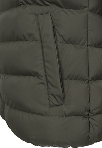 Grün Giacca Basic darkolive Jacket Bubble Classics 1165 darkolive black Uomo Urban qIBaww