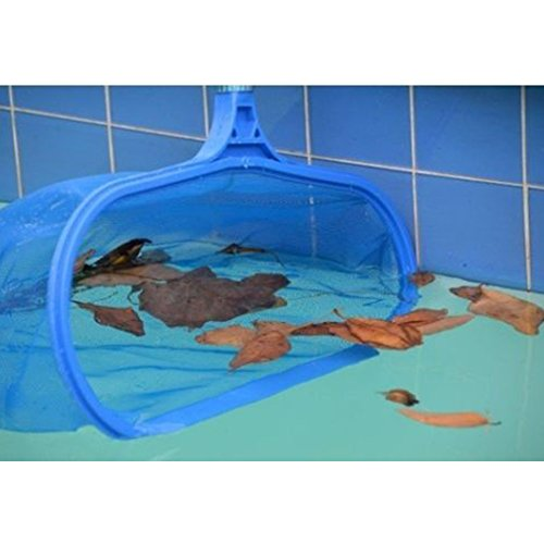 GEZICHTA Premium Pool Net Leaf Skimmer, Mesh Net Skimmer Clean Tool for Deep Swimming Pool Pond Hot Tub Fountain Fish Tank Aquarium Clean Net(Blue) by GEZICHTA