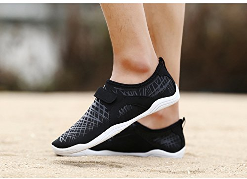 Womens OUYAJI Mens Water Breathable Beach Outdoor Black Shoes Home Velcro Drain Dry Quick Shoes Lightweight Wading Casual rFrxq1d