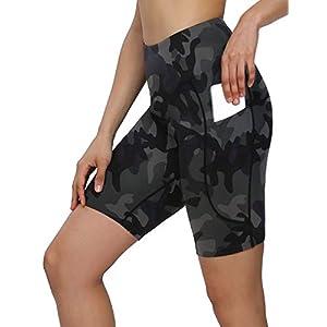 MOVE BEYOND Femme 13cm/20cm Longueur Entrejambe Taille Haute Short Sport avec 2 Poches Contrôle du Ventre Pantalon Yoga…