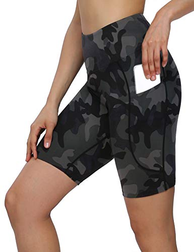 🥇 MOVE BEYOND 8» Pantalones Cortos Deportivo para Mujer con 2 Bolsillos Laterales Cintura Alta para Yoga Correr Ejercicio