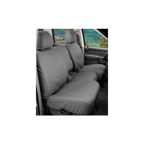 Covercraft SeatSaver Front Row Custom Fit Seat Cover for Select Chevrolet Silverado 1500/GMC Sierra 1500 Models - Polycotton (Grey)