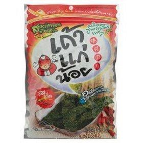 Taokaenoi Fried Seaweed Spicy Unique Taste Thailand Only 36g.
