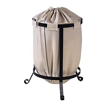 Ikea Wäschesack ikea portis wäschebehälter rund dunkelgrau beige wäschebeutel