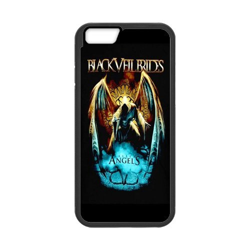 Fayruz- Personalized Protective Hard Textured Rubber Coated Cell Phone Case Cover Compatible with iPhone 6 & iPhone 6S - Black Veil Brides F-i5G618