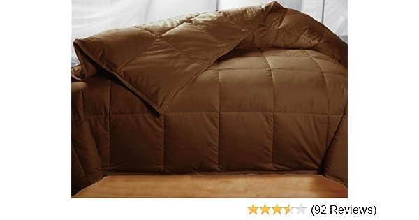 colored down comforter king Amazon.com: Chocolate Colored Feather Down Comforter   King Size: Baby colored down comforter king