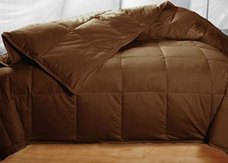 Amazon Com Chocolate Colored Feather Down Comforter Queen Size Baby