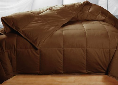 chocolate feather down comforter
