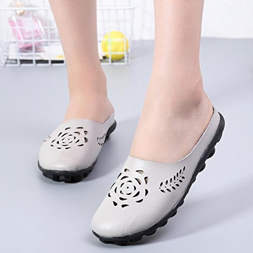 Mujer ❤Sandalias Slip De Planas On Zapatos Suaves ALIKEEY ❤Tobillera Sandalias Gris Zapatos Casual YwtnE
