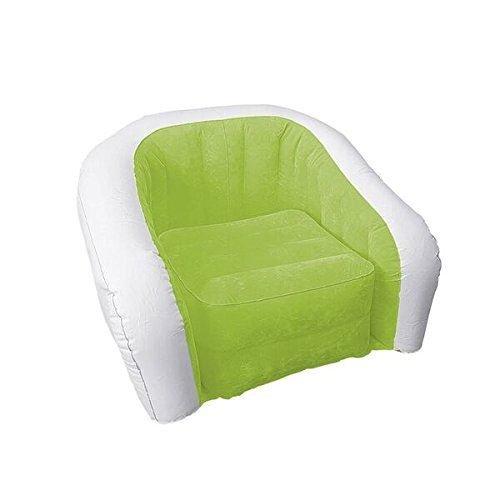 Nigma Único Color Verde y Blanco Brazo Silla Hinchable Cushy ...